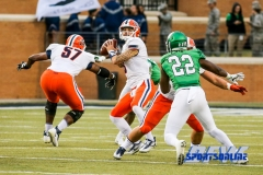 Denton, TX - November 11: UTEP Miners quarterback Zack Greenlee (8) during the game between the North Texas Mean Green and UTEP Miners (Photo by Mark Woods/DFWsportsonline)