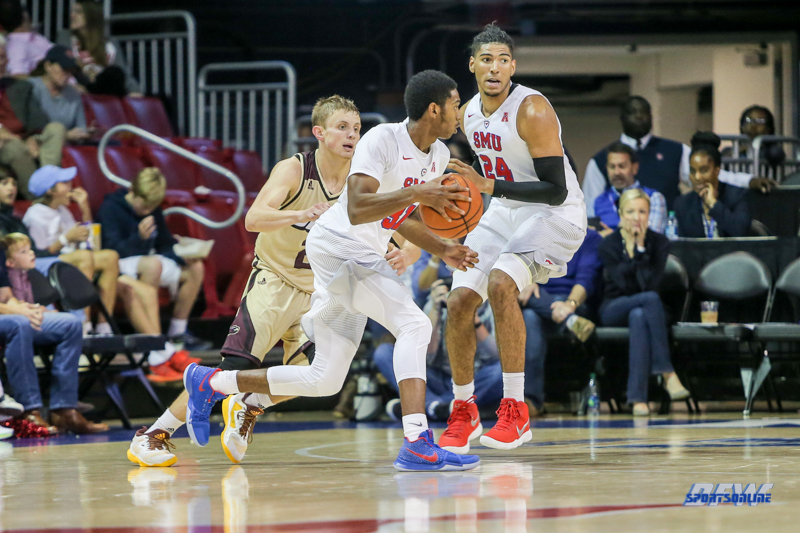 DALLAS, TX - NOVEMBER 12: Southern Methodist Mustangs guard Jimmy Whitt (31) during the men's basketball game between SMU and ULM on November 12, 2017, at Moody Coliseum, in Dallas, TX. (Photo by George Walker/DFWsportsonline)