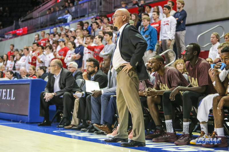 DALLAS, TX - NOVEMBER 12: Louisiana Monroe Warhawks head coach Keith Richard looks on during the game between SMU and ULM on November 12, 2017 at Moody Coliseum in Dallas, TX. (Photo by George Walker/Icon Sportswire)