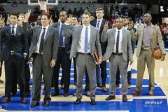 DALLAS, TX - NOVEMBER 12: SMU coaches staff after the men's basketball game between SMU and ULM on November 12, 2017, at Moody Coliseum, in Dallas, TX. (Photo by George Walker/DFWsportsonline)
