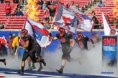 DALLAS, TX - NOVEMBER 25: SMU takes the field prior to the game between SMU and Tulane on November 25, 2017, at Gerald J. Ford Stadium in Dallas, TX. (Photo by George Walker/DFWsportsonline)