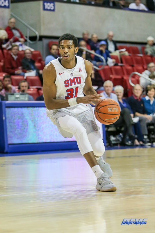 UNIVERSITY PARK, TX - NOVEMBER 28: Southern Methodist Mustangs guard Jimmy Whitt (31) goes to the basket during the game between SMU and UT Rio Grande Valley on November 28, 2017 at Moody Coliseum in Dallas, TX. (Photo by George Walker/Icon Sportswire)