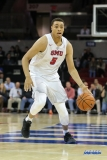 UNIVERSITY PARK, TX - NOVEMBER 28: Southern Methodist Mustangs forward Ethan Chargois (5) dribbles during the game between SMU and UT Rio Grande Valley on November 28, 2017 at Moody Coliseum in Dallas, TX. (Photo by George Walker/Icon Sportswire)