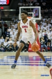 UNIVERSITY PARK, TX - DECEMBER 02: Southern Methodist Mustangs guard Shake Milton (1) dribbles during the game between SMU and USC on December 2, 2017 at Moody Coliseum in Dallas, TX. (Photo by George Walker/Icon Sportswire)