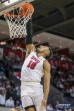 UNIVERSITY PARK, TX - DECEMBER 02: Southern Methodist Mustangs guard Jarrey Foster (10) dunks during the game between SMU and USC on December 2, 2017 at Moody Coliseum in Dallas, TX. (Photo by George Walker/Icon Sportswire)