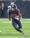 HOUSTON, TX - DECEMBER 02: Houston Texans running back Lamar Miller (26) during the game between the Houston Texans and Cleveland Browns on December 2, 2018, at NRG Stadium in Houston, TX. (Photo by George Walker/DFWsportsonline)