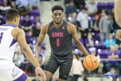 FORT WORTH, TX - DECEMBER 05: Southern Methodist Mustangs guard Shake Milton (1) during the game between SMU and TCU on December 5, 2017 at the Ed and Rae Schollmaier Arena in Fort Worth, TX. (Photo by George Walker/DFWsportsonline