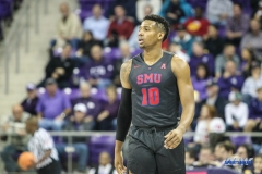 FORT WORTH, TX - DECEMBER 05: Southern Methodist Mustangs guard Jarrey Foster (10) during the game between SMU and TCU on December 5, 2017 at the Ed and Rae Schollmaier Arena in Fort Worth, TX. (Photo by George Walker/DFWsportsonline