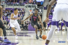 FORT WORTH, TX - DECEMBER 05: Southern Methodist Mustangs guard Shake Milton (1) dribbles during the game between SMU and TCU on December 5, 2017 at the Ed and Rae Schollmaier Arena in Fort Worth, TX. (Photo by George Walker/DFWsportsonline