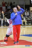 DALLAS, TX - DECEMBER 13: SMU head football Sonny Dykes is introduced during the men's basketball game between SMU and New Orleans on December 13, 2017, at Moody Coliseum, in Dallas, TX. (Photo by George Walker/DFWsportsonline)