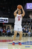 UNIVERSITY PARK, TX - DECEMBER 18: Southern Methodist Mustangs forward Ethan Chargois (5) shoots the ball during the game between SMU and Boise State on December 18, 2017, at Moody Coliseum in Dallas, TX. (Photo by George Walker/DFWsportsonline)