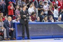 UNIVERSITY PARK, TX - DECEMBER 18: Southern Methodist Mustangs head coach Tim Jankovich looks on during the game between SMU and Boise State on December 18, 2017, at Moody Coliseum in Dallas, TX. (Photo by George Walker/DFWsportsonline)