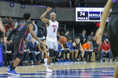 UNIVERSITY PARK, TX - DECEMBER 18: Southern Methodist Mustangs guard Jahmal McMurray (0) sets the play during the game between SMU and Boise State on December 18, 2017, at Moody Coliseum in Dallas, TX. (Photo by George Walker/DFWsportsonline)