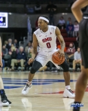 UNIVERSITY PARK, TX - DECEMBER 18: Southern Methodist Mustangs guard Jahmal McMurray (0) dribbles during the game between SMU and Boise State on December 18, 2017, at Moody Coliseum in Dallas, TX. (Photo by George Walker/DFWsportsonline)