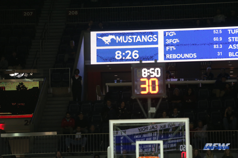 UNIVERSITY PARK, TX - DECEMBER 19: during the game between SMU and Cal Poly State on December 19, 2017, at Moody Coliseum in Dallas, TX. (Photo by George Walker/DFWsportsonline)