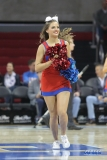 UNIVERSITY PARK, TX - DECEMBER 19: SMU cheerleader performs during the game between SMU and Cal Poly State on December 19, 2017, at Moody Coliseum in Dallas, TX. (Photo by George Walker/DFWsportsonline)