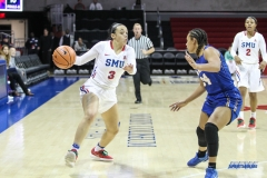 UNIVERSITY PARK, TX - DECEMBER 22: Southern Methodist Mustangs guard McKenzie Adams (3) goes to the basket during the women's game between SMU and McNeese State on December 22, 2017, at Moody Coliseum in Dallas, TX. (Photo by George Walker/Icon Sportswire)