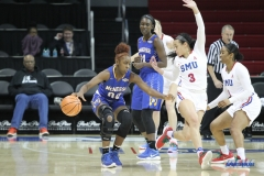 UNIVERSITY PARK, TX - DECEMBER 22: McNeese State Cowgirls guard Keara Hudnall (00) during the women's game between SMU and McNeese State on December 22, 2017, at Moody Coliseum in Dallas, TX. (Photo by George Walker/Icon Sportswire)