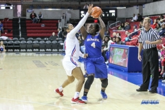 UNIVERSITY PARK, TX - DECEMBER 22: McNeese State Cowgirls guard Dede Sheppard (4) looks to pass the ball during the women's game between SMU and McNeese State on December 22, 2017, at Moody Coliseum in Dallas, TX. (Photo by George Walker/Icon Sportswire)