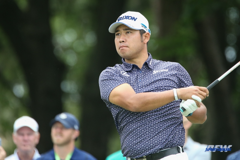 MCKINNEY, TX - MAY 14: Hideki Matsuyama hits from the 5th tee during the second round of the AT&T Byron Nelson on May 14, 2021 at TPC Craig Ranch in McKinney, TX. (Photo by George Walker/DFWsportsonline)