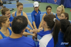 DALLAS, TX - JANUARY 13: SMU players during the SMU women's tennis Metroplex Mania tournament on January 13, 2018, at the SMU Tennis Complex, Turpin Stadium & Brookshire Family Pavilion in Dallas, TX. (Photo by George Walker/DFWsportsonline)
