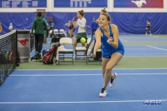 DALLAS, TX - JANUARY 13: Liza Buss during the SMU women's tennis Metroplex Mania tournament on January 13, 2018, at the SMU Tennis Complex, Turpin Stadium & Brookshire Family Pavilion in Dallas, TX. (Photo by George Walker/DFWsportsonline)