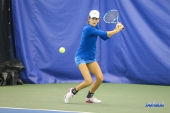 DALLAS, TX - JANUARY 13: Tiffany Hollebeck during the SMU women's tennis Metroplex Mania tournament on January 13, 2018, at the SMU Tennis Complex, Turpin Stadium & Brookshire Family Pavilion in Dallas, TX. (Photo by George Walker/DFWsportsonline)