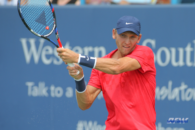 CINCINNATI, OH - Mitchell Krueger (USA) during the Western & Southern Open at the Lindner Family Tennis Center in Mason, Ohio on August 16, 2017, (Photo by George Walker/DFWsportsonline