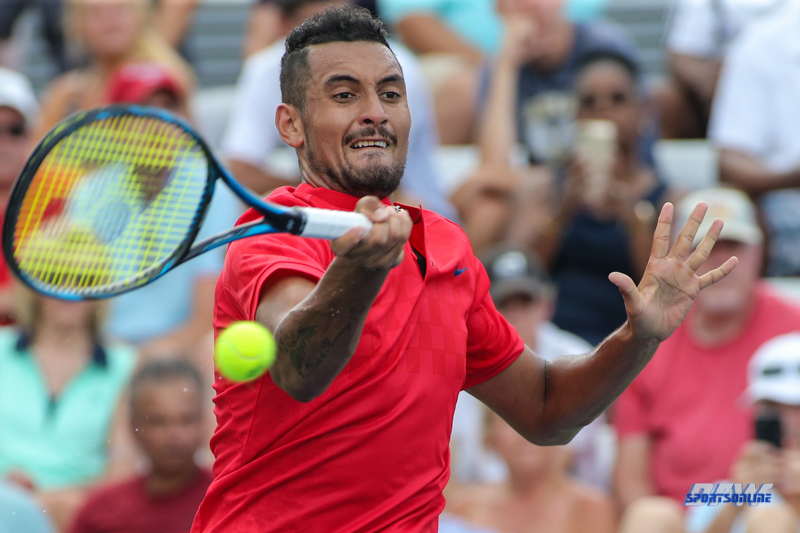 CINCINNATI, OH - Nick Kyrgios (AUS) during the Western & Southern Open at the Lindner Family Tennis Center in Mason, Ohio on August 16, 2017, (Photo by George Walker/DFWsportsonline