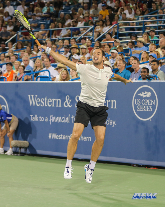 CINCINNATI, OH - Richard Gasquet (FRA) during the Western & Southern Open at the Lindner Family Tennis Center in Mason, Ohio on August 16, 2017, (Photo by George Walker/DFWsportsonline