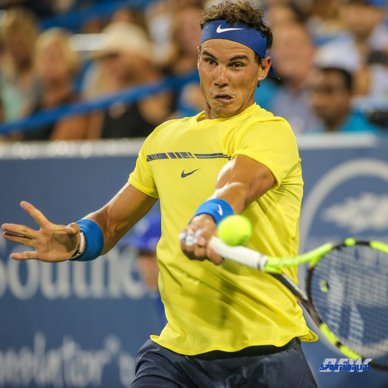 CINCINNATI, OH - Rafael Nadal (ESP) during the Western & Southern Open at the Lindner Family Tennis Center in Mason, Ohio on August 16, 2017, (Photo by George Walker/DFWsportsonline