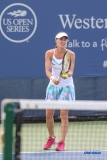 CINCINNATI, OH - Martina Hingis (SUI) during the Western & Southern Open at the Lindner Family Tennis Center in Mason, Ohio on August 16, 2017, (Photo by George Walker/DFWsportsonline