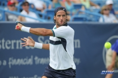 CINCINNATI, OH - AUGUST 16: Feliciano Lopez (ESP) hits a backhand during the Western & Southern Open at the Lindner Family Tennis Center in Mason, Ohio on August 16, 2017.(Photo by George Walker/Icon Sportswire)