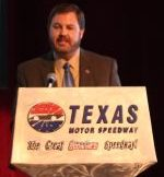Texas Motor Speedway President Eddie Gossage. Photo by George Walker
