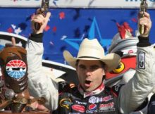 Jeff Gordon celebrates in Victory Lane after winning the Samsung 500 at Texas Motor Speedway. Photo by George Walker