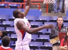 Papa Dia scores 23 points as SMU loses to Houston. Photo by George Walker
