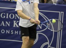 Andy Roddick at the 2011 Regions Morgan Keegan Championships. Photo by George Walker